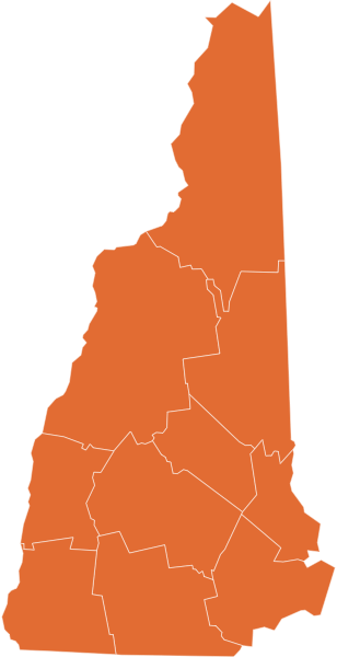 A map of New Hampshire